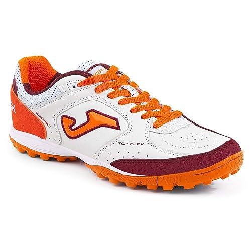 SPORTIME2 - Zapatillas de fútbol Sala de Cuero para Hombre Blanco Blanco: Amazon.es: Zapatos y complementos