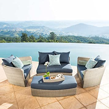 Sirio Venice 4 Piece Patio Furniture Set, Grey