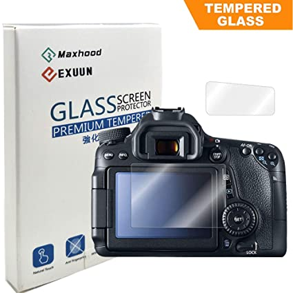 Canon EOS 80D / 70D Tempered Glass Screen Protector, Poyiccot Optical 9H  Hardness 0 3mm Ultra-Thin DSLR Camera LCD Tempered Glass with Shoulder  Screen