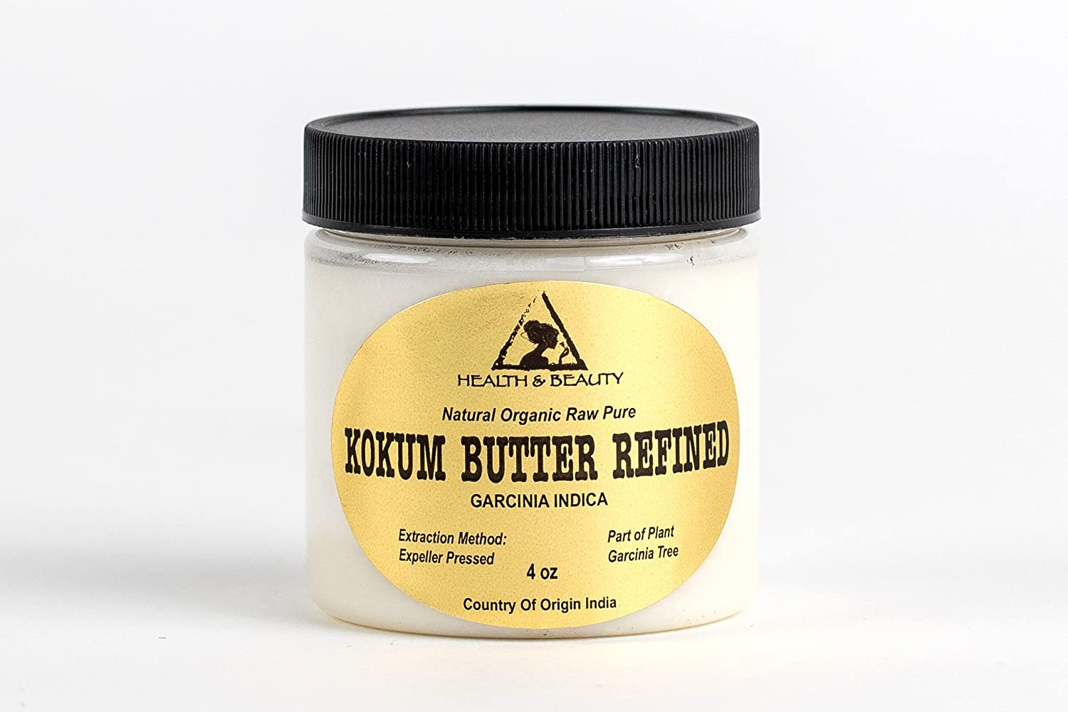 Kokum Butter Refined Organic Natural Raw Prime Fresh 100% Pure 4 oz, 118 ml H&B OILS CENTER Co.