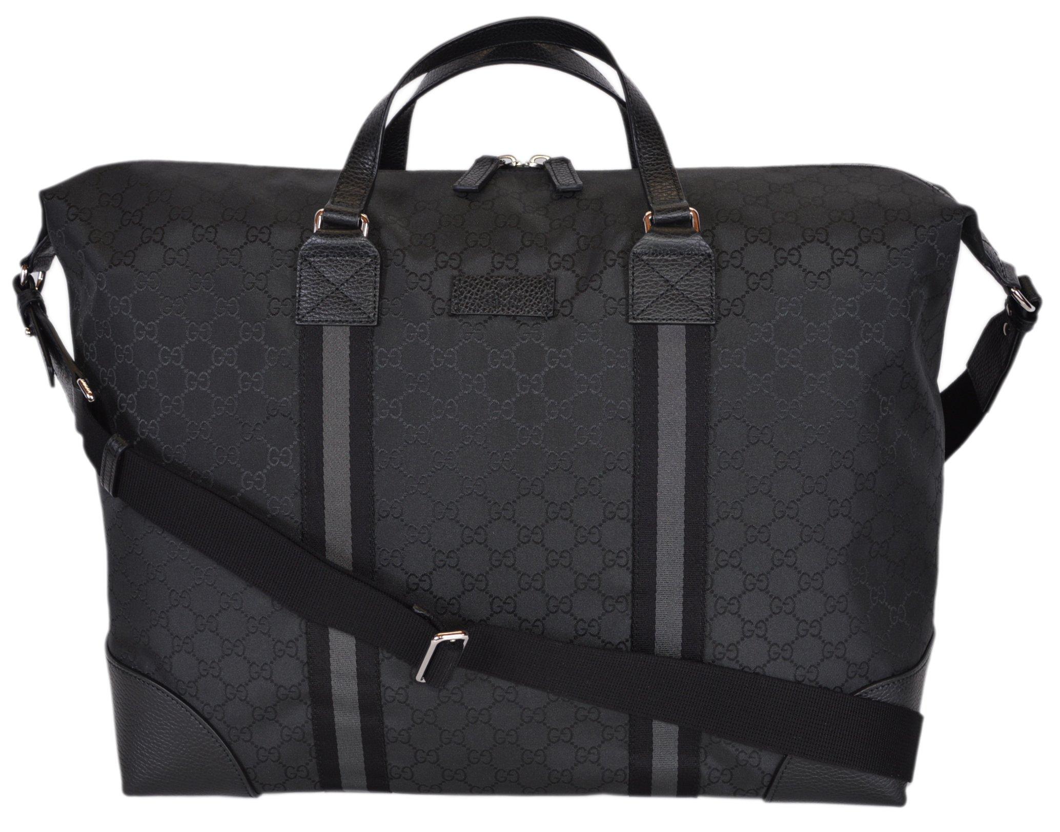 6d8ddc1113 Gucci Nylon GG Guccissima XL Travel Duffle Luggage Bag (449180/Black)