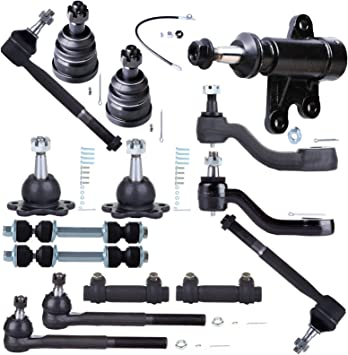 Scitoo 14PC Tie Rod Ends Ball Joints Stabilizer Bar Pitman Idler Arm Kit fit 1995 1996 1997 1998 1999 Chevrolet K1500 K2500