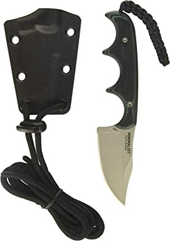 CRKT Minimalist Bowie Compact Fixed Blade Knife with Sheath