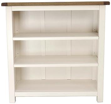 Bücherregal Niedrig schrank bits bücherregal niedrig holz weiß amazon de küche
