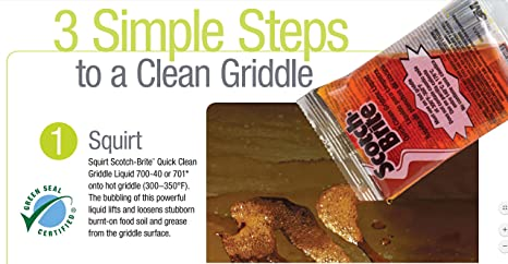 Scotch-Brite 746 Quick Clean Heavy Duty Griddle Pad, 5-1/4