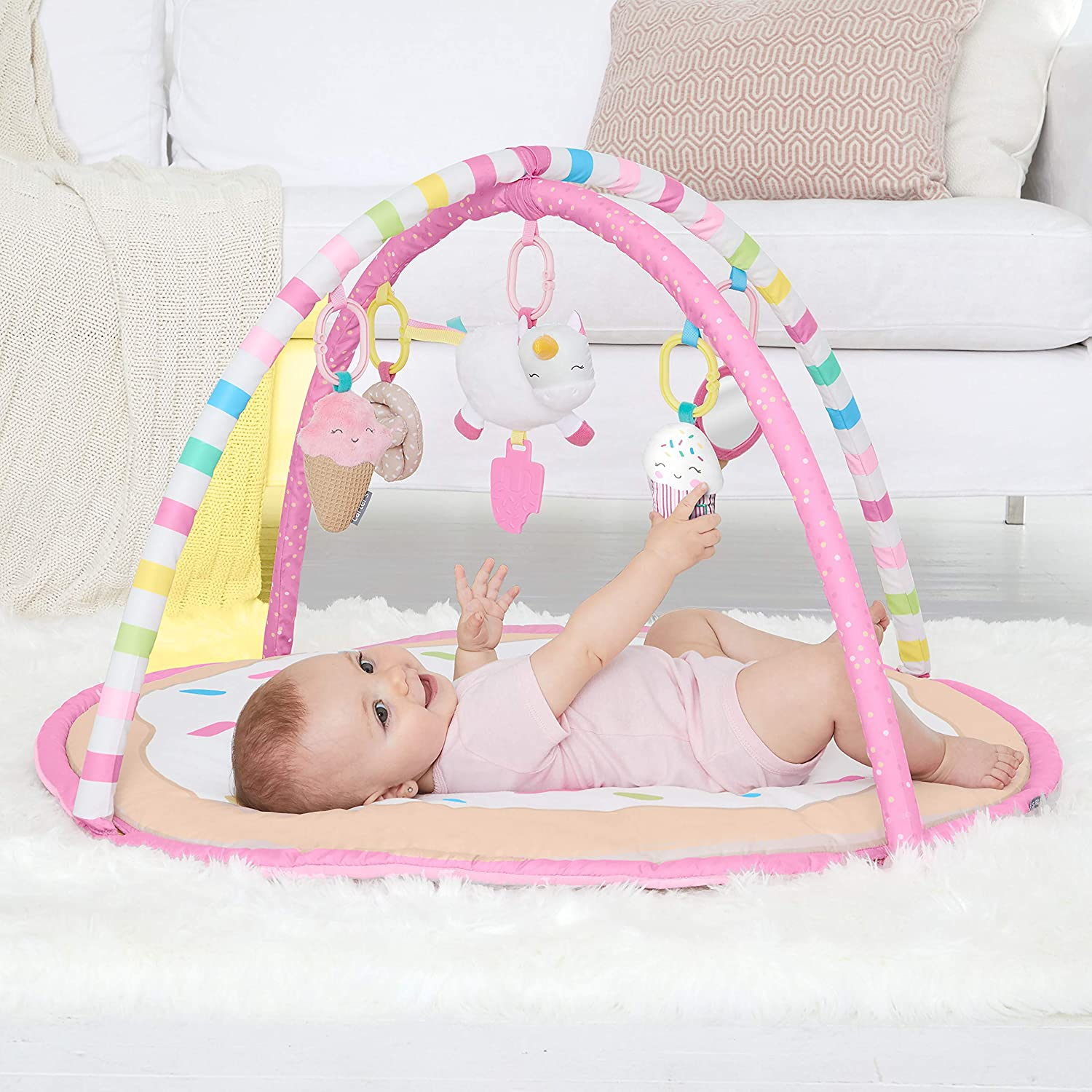 Carters Sweet Surprise Baby Activity Gym Pink