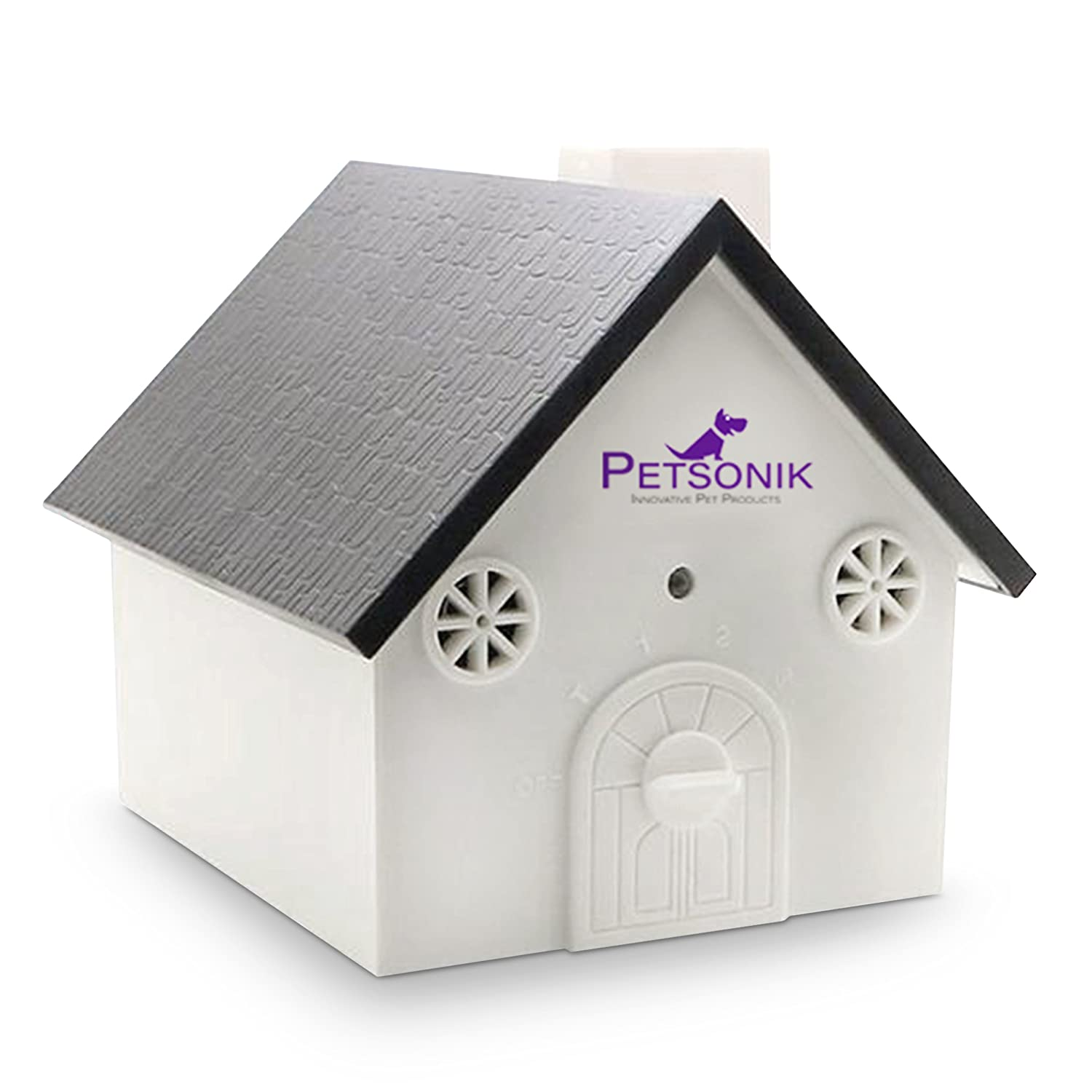 PETSONIK Ultrasonic Outdoor Dog Bark Controller Sonic Bark Deterrent in Newest Birdhouse Shape, No Harm to Dog or Other Pets, Plant, Human, Easy Hanging Mounting On Tree, Wall, Or Fence Post