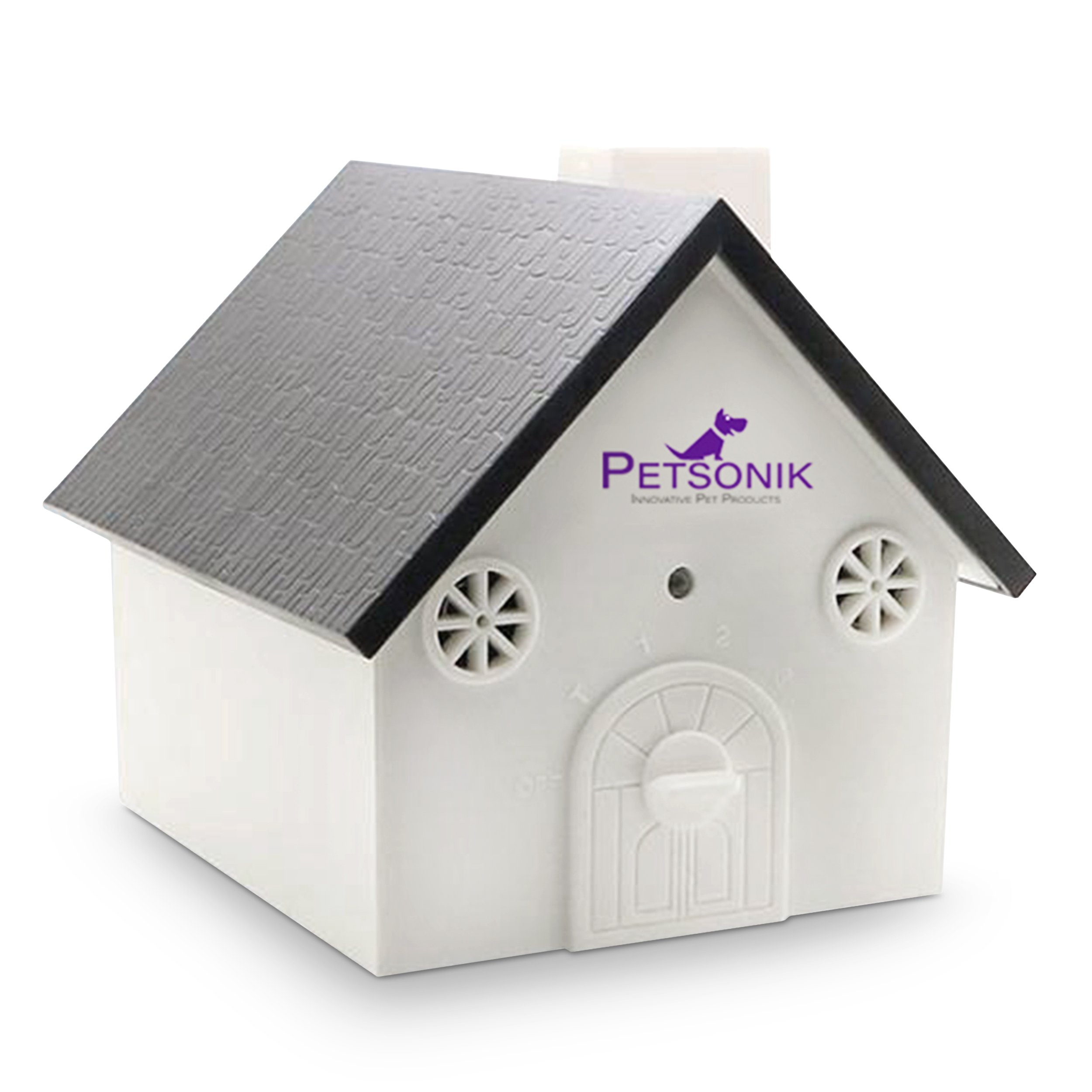 PETSONIK Ultrasonic Outdoor Dog Bark Controller Sonic Bark Deterrent in Newest Birdhouse Shape, No Harm to Dog or other Pets, Plant, Human, Easy Hanging / Mounting On Tree, Wall, Or Fence Post