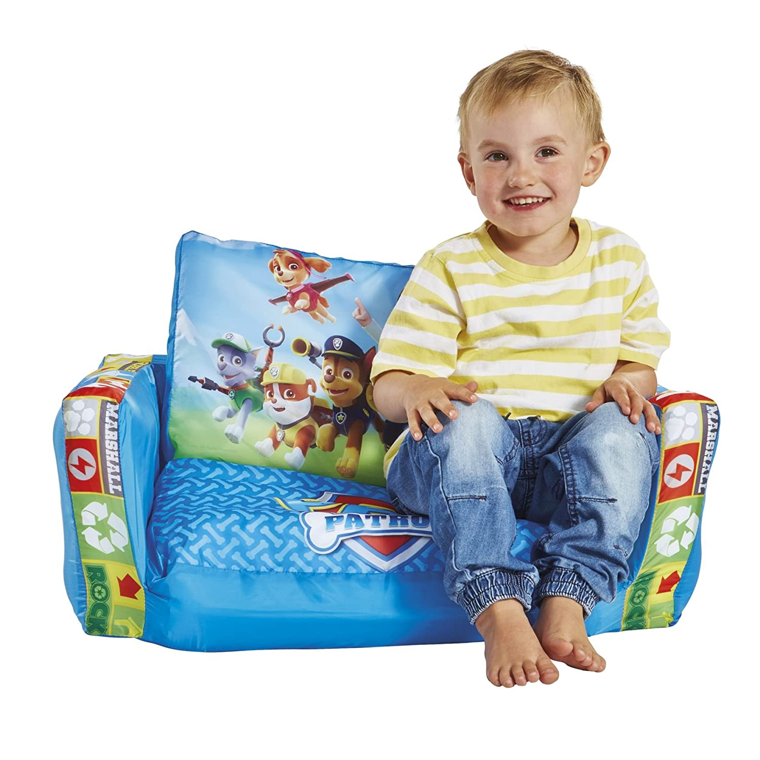 Paw Patrol 2 in 1 Inflatable Flip Out Mini Sofa and Lounger: Paw ...