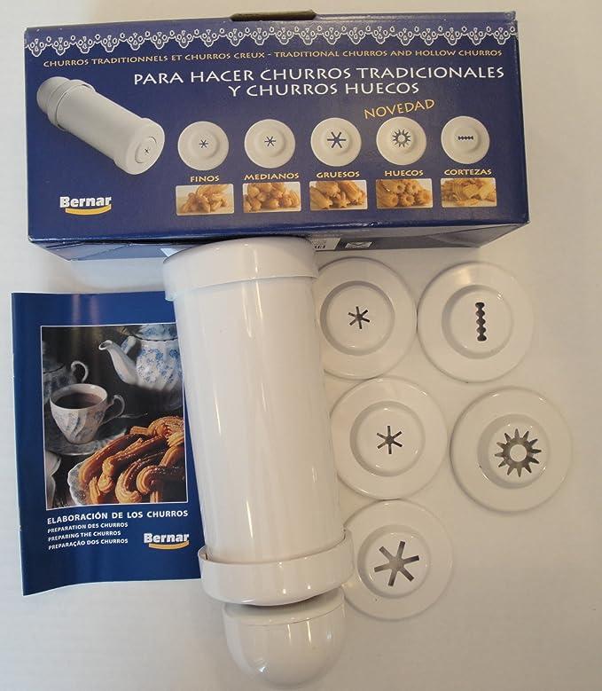 Amazon.com: Churrera Churro Maker with Hollow Churro Nozzle. by Bernar: Kitchen & Dining