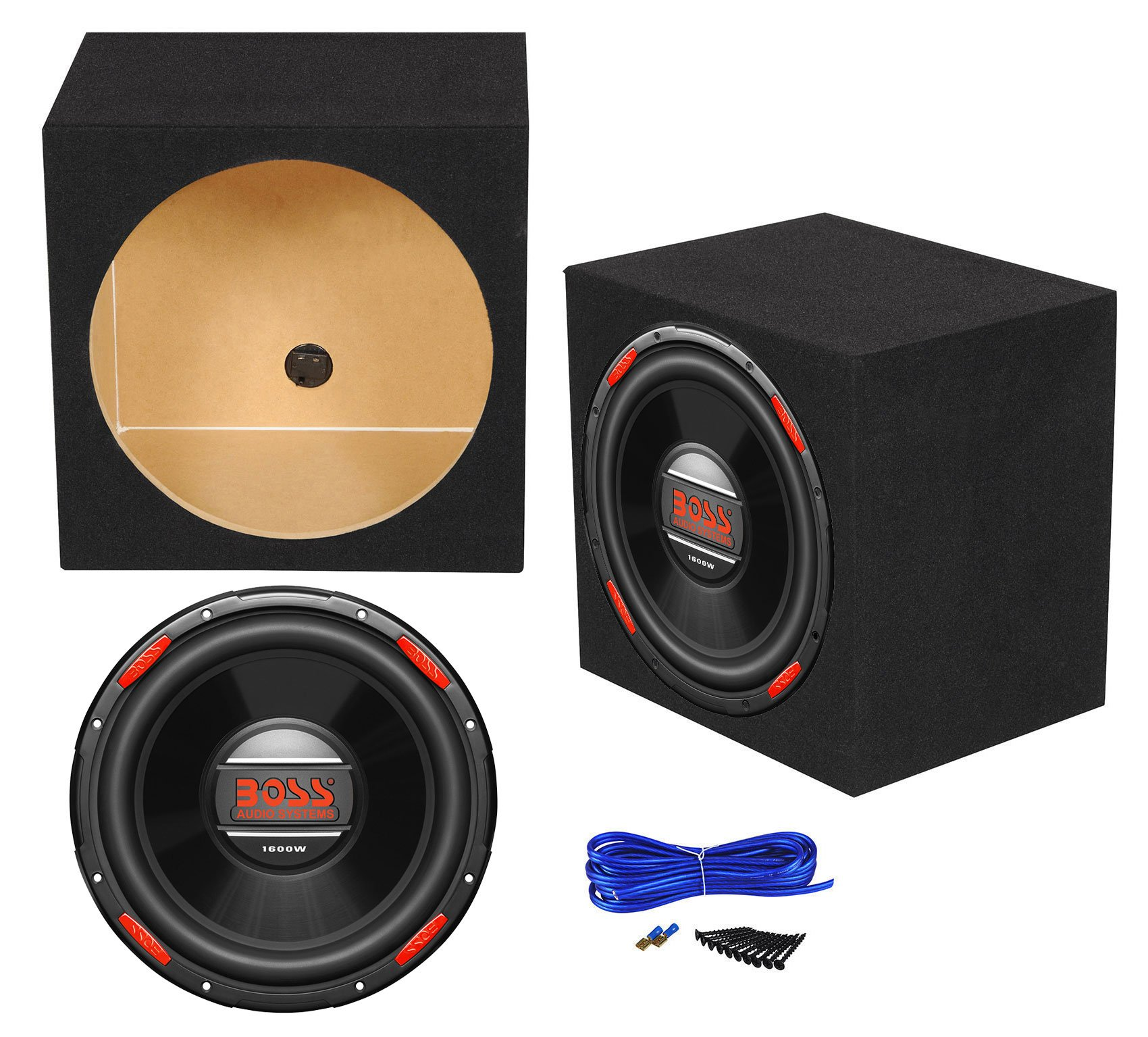 Boss Audio AR120DVC 12'' 1600w DVC Car Audio Subwoofer+Sealed Sub Box Enclosure