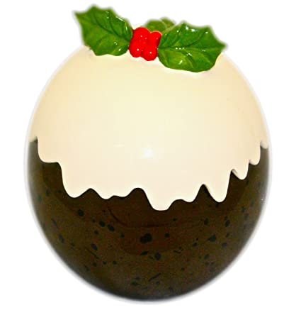 Hdiuk Ceramic Christmas Cookie Jar Ideal For Storing Santa Christmas Eve Cookies And Mince Pies Christmas Pudding