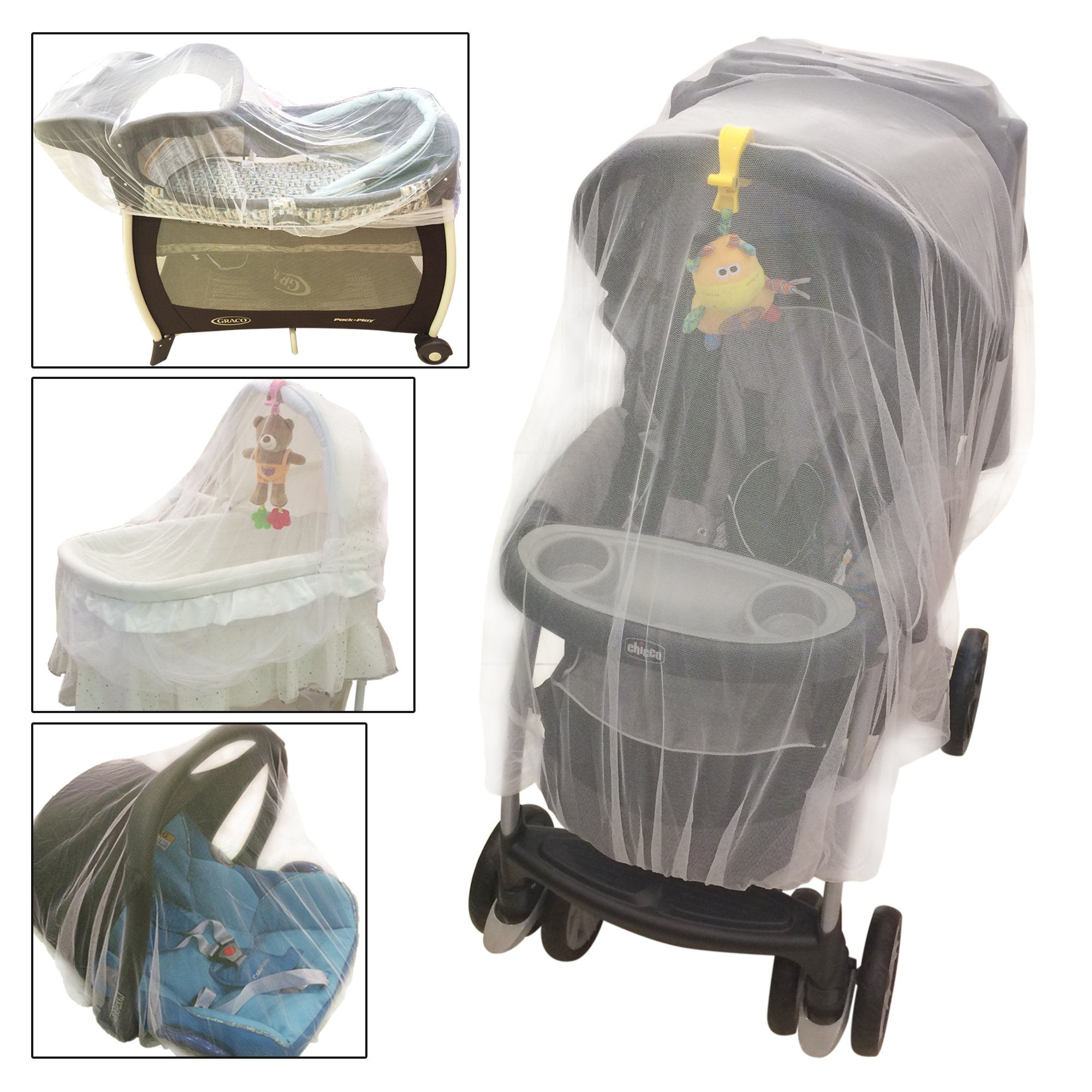 Amazon Com Mosquito Guard Baby Crib Netting Free