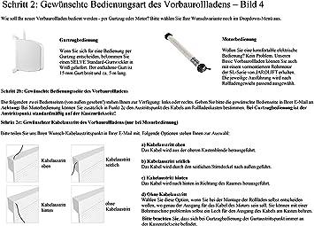 Gurtzug jarolift Basic Vorbaurollladen Rolladen auf Ma/ß halbrunder Rollladenkasten 801-1000 mm x 1001-1200 mm B x H PVC-Kunststoff-Profil 37 mm