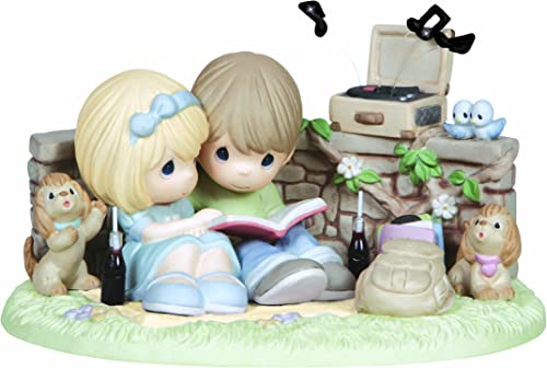 Precious Moments Figurine, Limited Edition Couple Listening to Record Player