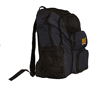 cc42c0acf2d Mens Black   Navy Large Backpack Rucksack Bag By MIG - SPORTS TRAVEL  FISHING WORK SCHOOL