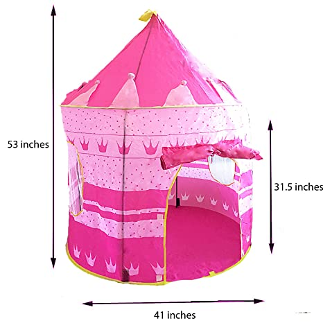 Pink Princess Castle Tent - Portable Play Tent For Girls - Indoor u0026 Outdoor Use -  sc 1 st  Amazon.com & Amazon.com: Pink Princess Castle Tent - Portable Play Tent For Girls ...