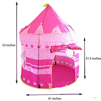 Pink Princess Castle Tent - Portable Play Tent For Girls - Indoor u0026 Outdoor Use -  sc 1 st  Amazon.com & Amazon.com: Pink Princess Castle Tent - Portable Play Tent For ...