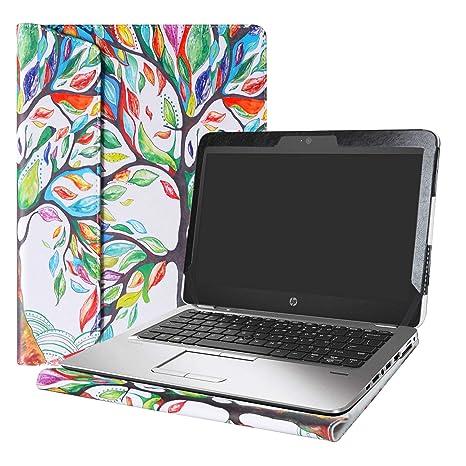 """Alapmk Diseñado Especialmente La Funda Protectora de Cuero de PU para 12.5"""" HP EliteBook 820"""
