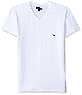 f55f789aee98 Emporio Armani Men's Iconic Logoband V-Neck at Amazon Men's Clothing ...
