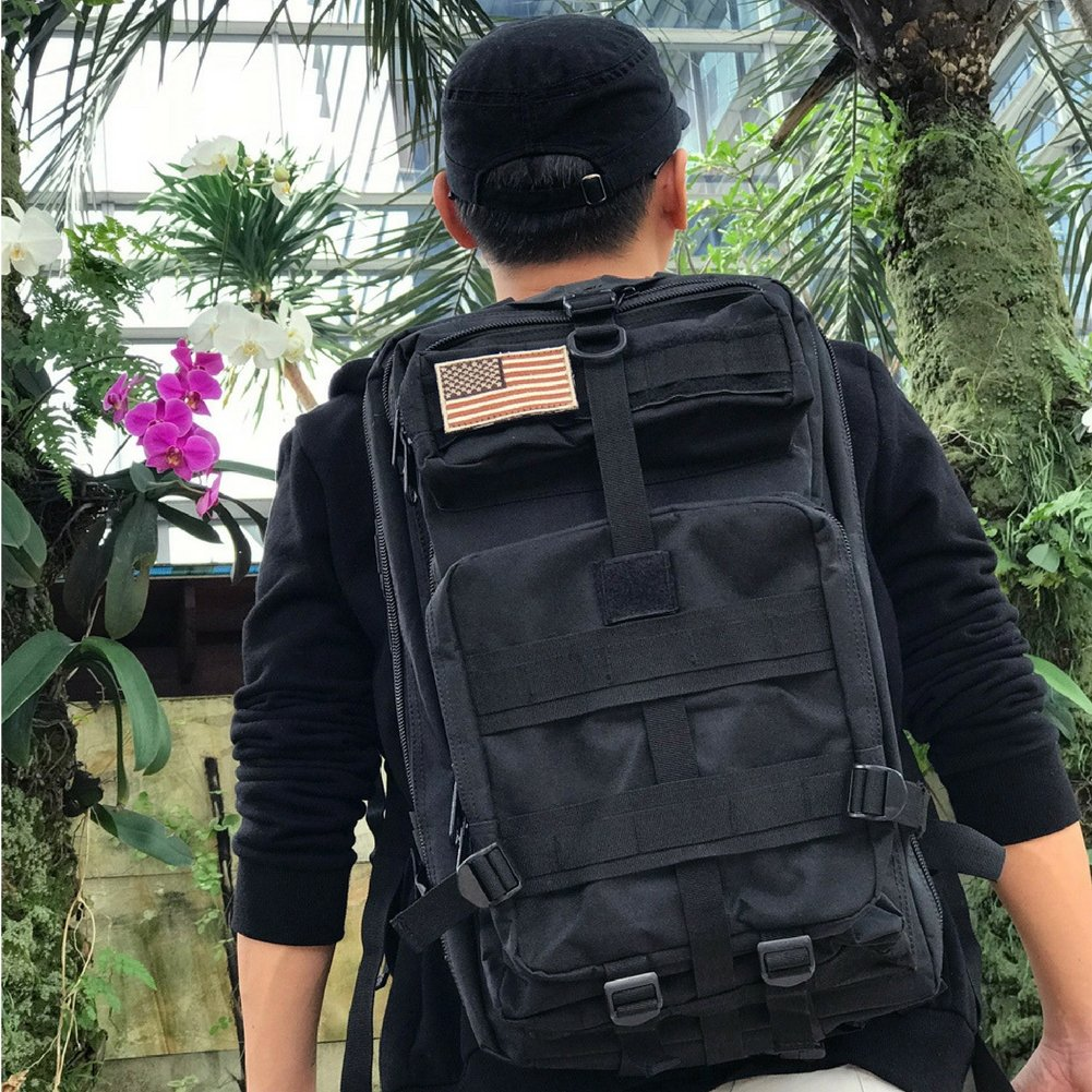 Military Tactical Backpack, Large Outdoor Rucksack for 3 Day Assault Pack Army Molle Bug Out Bag 40 L by Tacticca (Image #9)