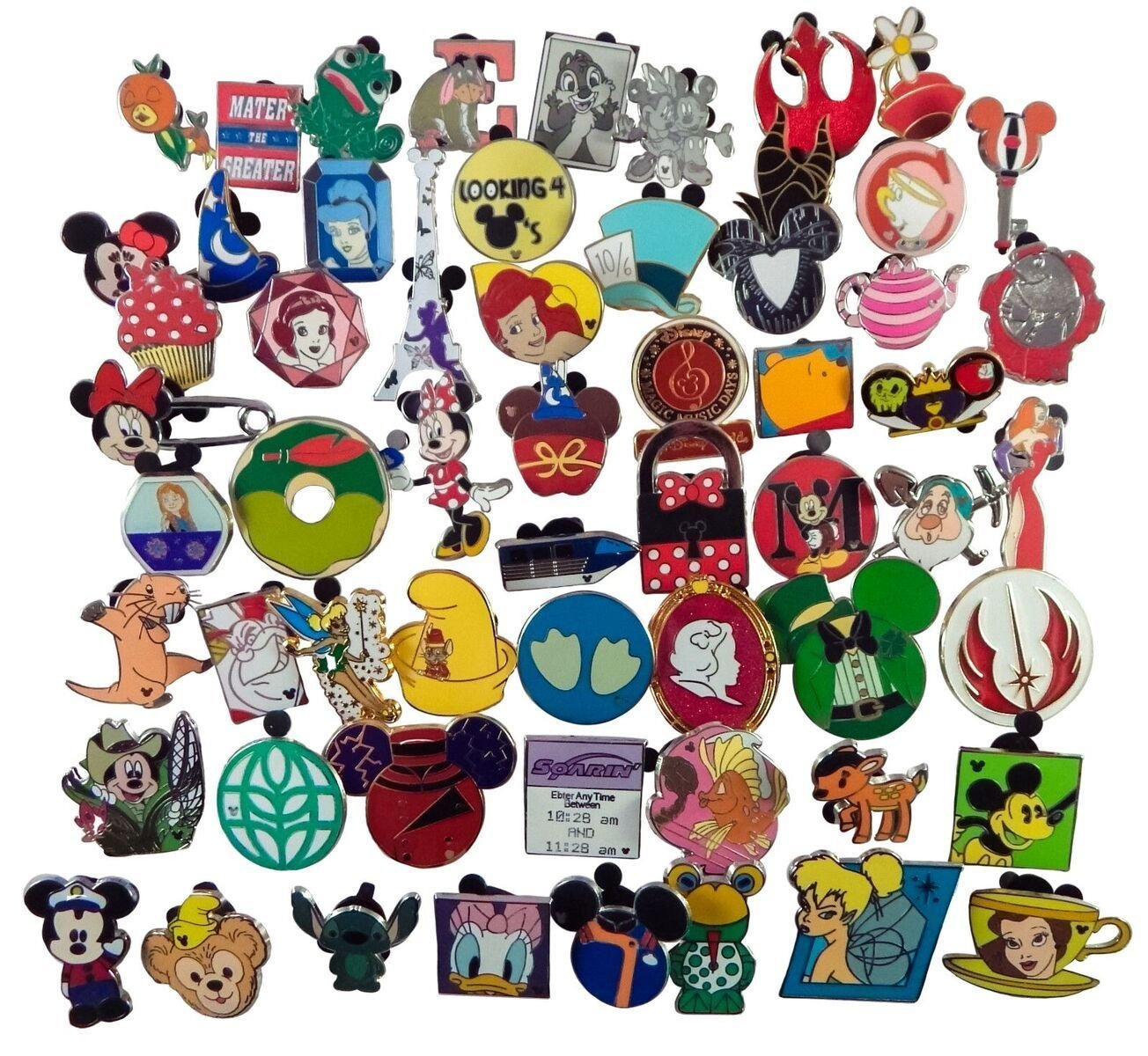 New 25 Pins- Assorted Lot of Trading - No Doubles - Fast
