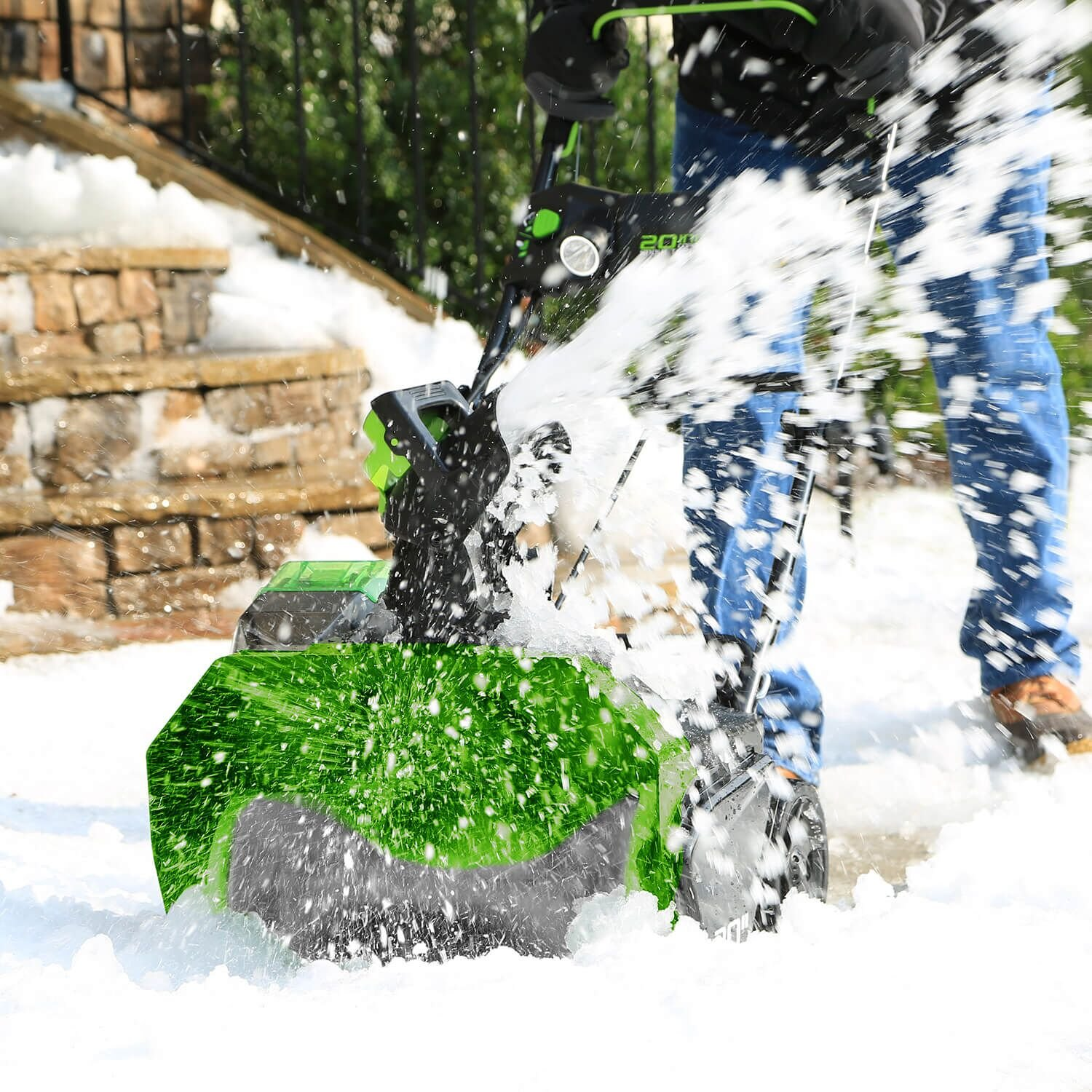 greenworks electric snow blower review