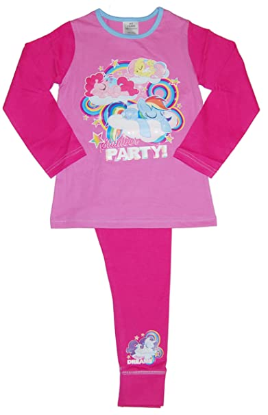 Girls My Little Pony Rainbow Pyjamas PJs 4-5 5-6 7-8 9-10 Years