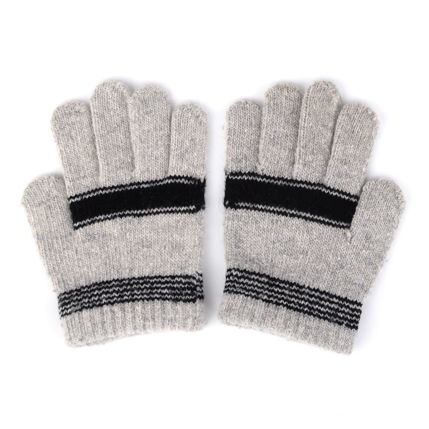 HomeDay Unisex Kids Knitted Magic Gloves Striped Warm Gloves