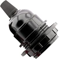 Art Deco Emporium Bulb Holder E27 Black Period Shape Lamp Pendant With Shade Ring