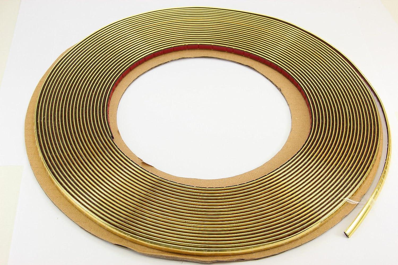 Zierleiste selbstklebend universal Auto Kontur Leiste 6mm x 15 Meter Gold