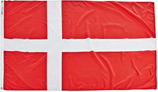 product image for Annin Flagmakers Model 192191 Denmark Flag Nylon SolarGuard NYL-Glo, 4x6 ft, 100% Made in USA to Official United Nations Design Specifications