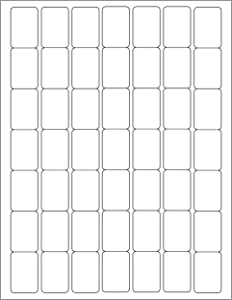 ChromaLabel 1 x 1-1/2 Inch Printable Labels, Compatible with Laser and Inkjet Printers, 1225 Pack, White, Permanent