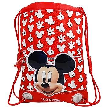 Disney Mickey Funny Bolsas de morral de lazo Mochila Bolso Escolar Ninos: Amazon.es: Equipaje