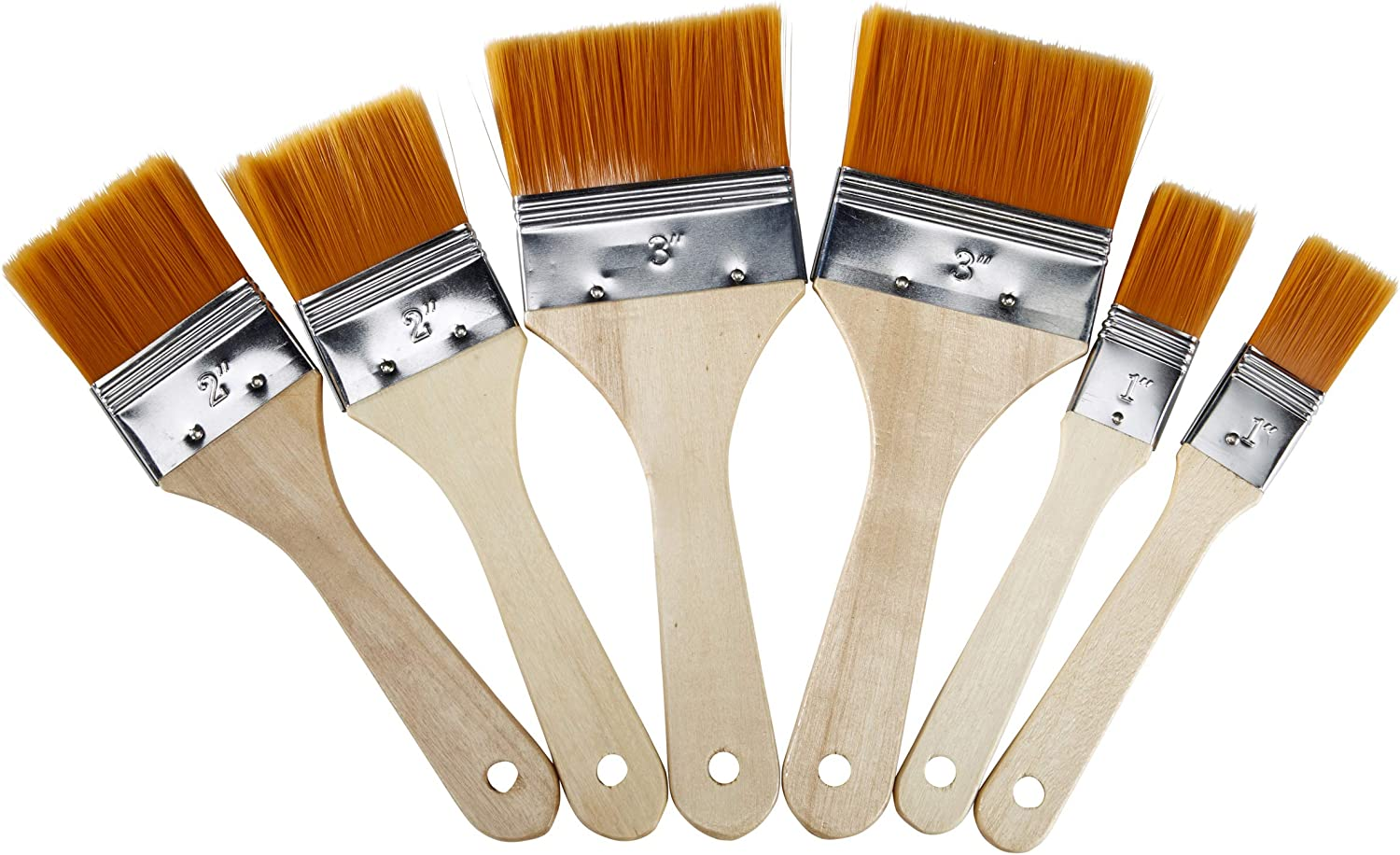 Artlicious 6 Multi Purpose Golden Taklon Paint Brush Set