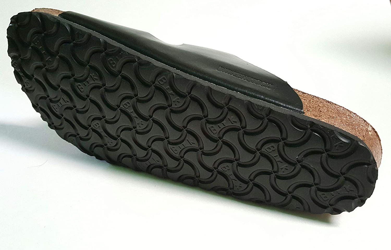 Birks Mens Arizona Sandal 44 Black Leather Original Footbed