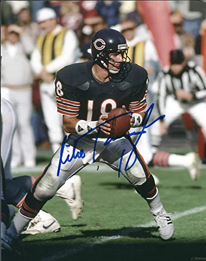 newest cf8ec 48f8e Autographed Mike Tomczak 8x10 Chicago Bears Photo at ...