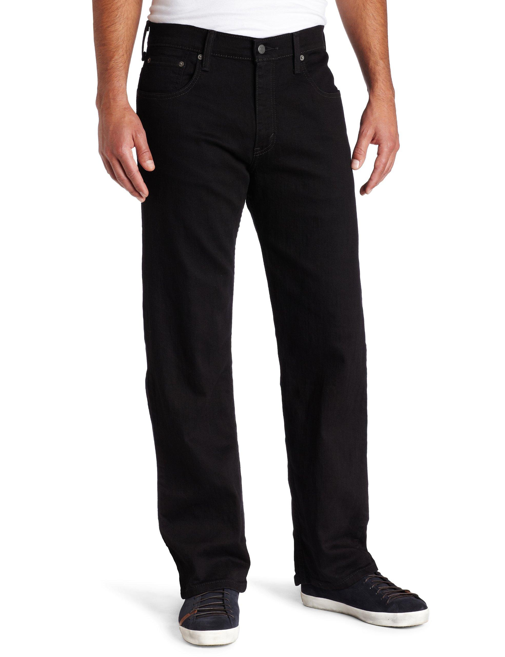 Levi's Men's 569 Loose Straight Leg Jean, Black, 34x36