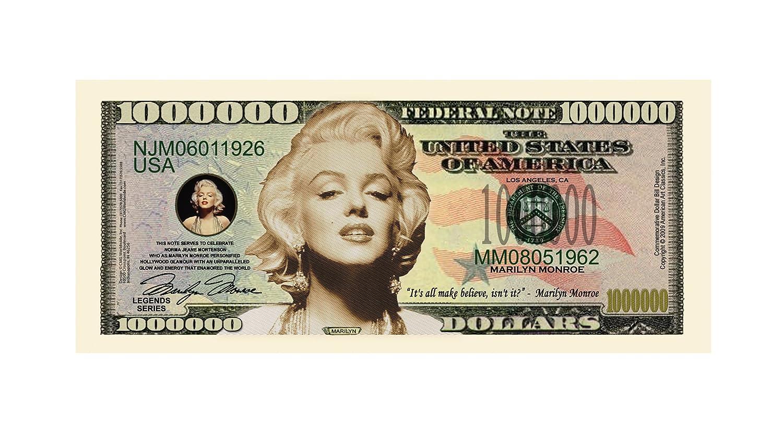 Best Gift For Lovers Of Norma Jean SG/_B00RBV7DGU/_US American Art Classics Pack of 10 Marilyn Monroe Million Dollar Bills