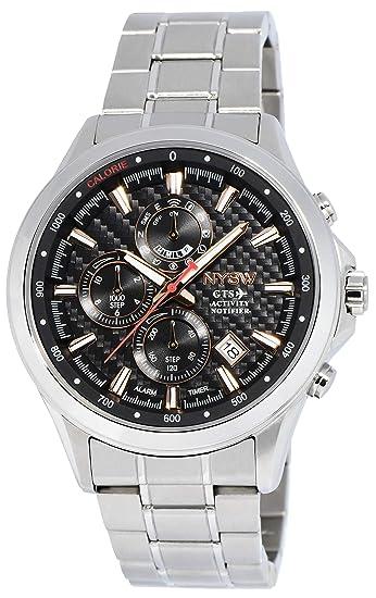 NYSW Reloj Inteligente híbrido clásico – Impresionante de Segunda Mano – Cristal de Zafiro – Perpetual