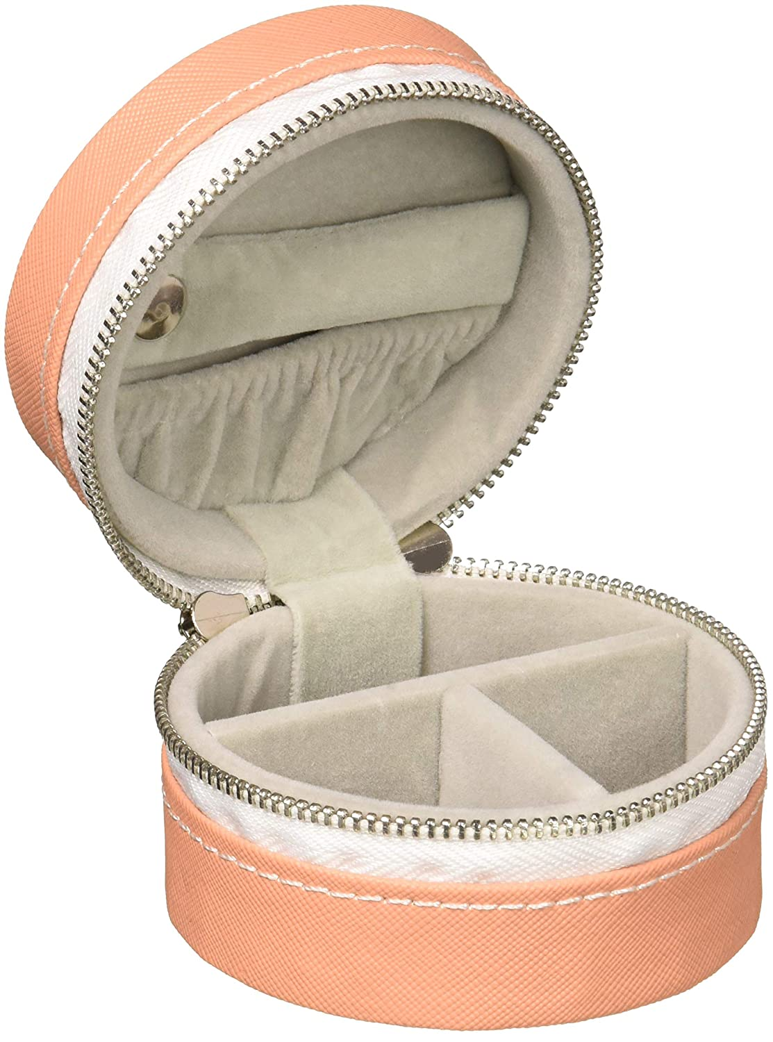 Pavilion Peach Zippered Jewelry Case 3.5 Inch Best Friends Forever
