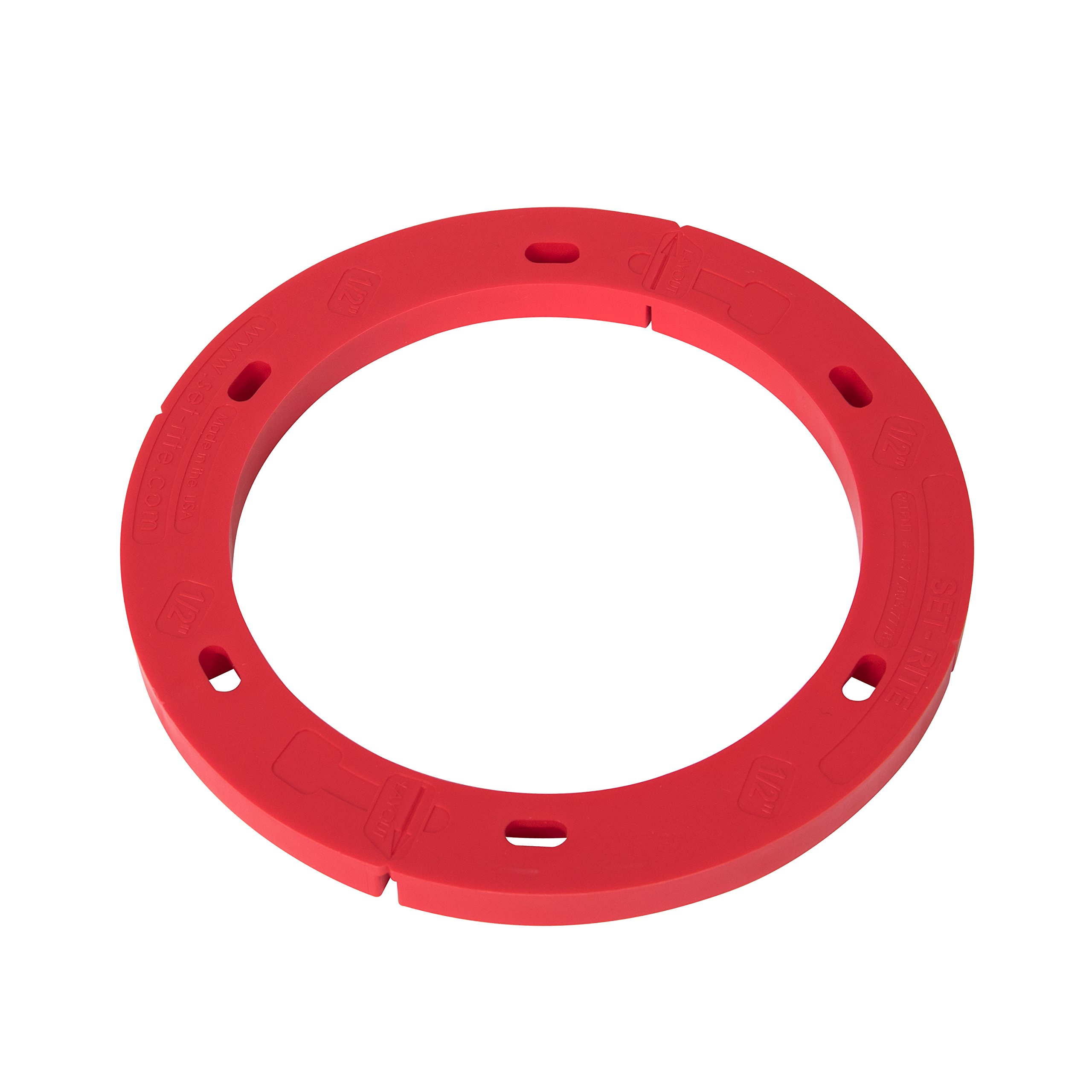 OATEY Set-Rite Toilet Flange Spacer - 1/2'''' Red, used on PVC, ABS, Cast Iron and Stainless Steel
