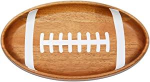 Bamboo Serving Tray for Football Party and Game Day (11 x 6.3 x 1.2 Inches)
