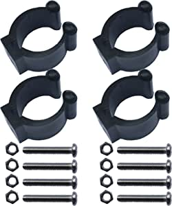 YYST 4 PCS Kayak Paddle Clip Paddle Holder Paddle Keeper Vertical Mounted NO Side Mounted