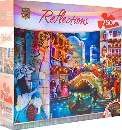 MasterPieces Reflections Foil Collection Masquerade Ball Jigsaw Puzzle, 750-Piece