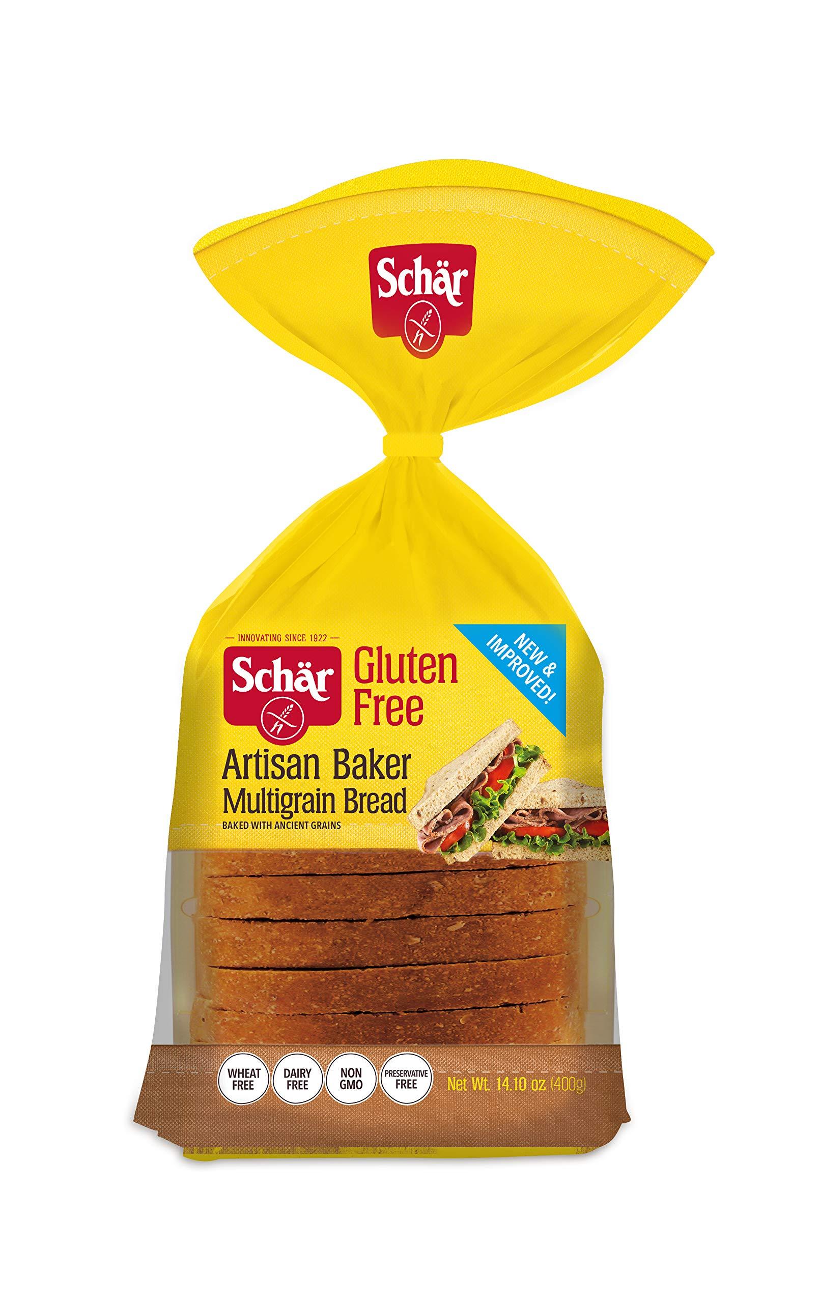Schär Gluten Free Artisan Baker Multigrain Bread, 14.1 oz., 6-Pack by Schar