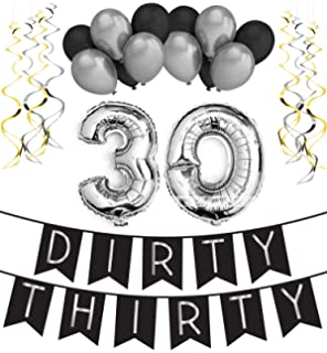 Amazoncom Famoby DIY 30th Photo Booth Props Kits for Birthday