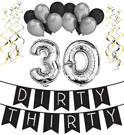 Sparkling Celebration 30th Birthday Balloon Kit Amazon Sterling James Co Dirty Thirty