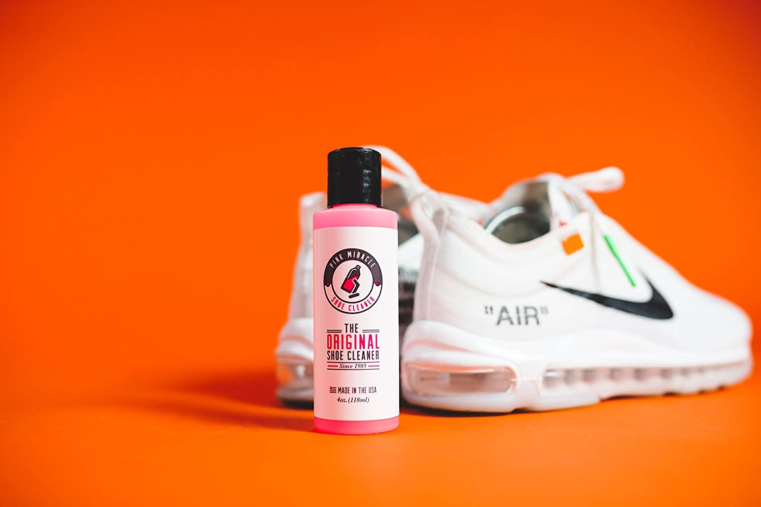 fdba37e5a944 Pink Miracle Bottle - Shoe Cleaner - Fabric Cleaner Solution With Free  BONUS Brush - Works on Leather