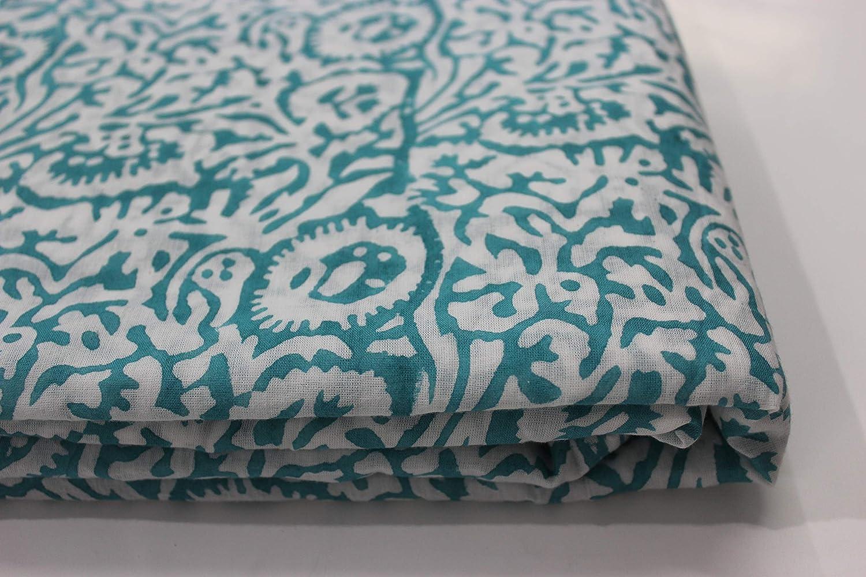 10 yards Indian Hand Made sanganerI pure cotton fabric hand block printed fabric